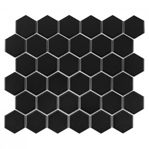 HEXAGON BLACK 51 MATT PŁYTKA