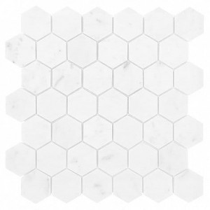 CARRARA WHITE HEXAGON 48