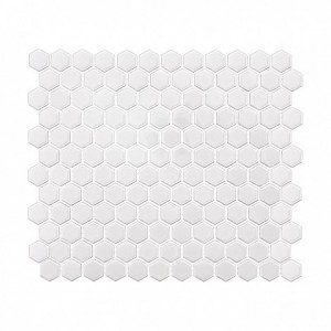 MINI HEXAGON WHITE PŁYTKA GRESOWA