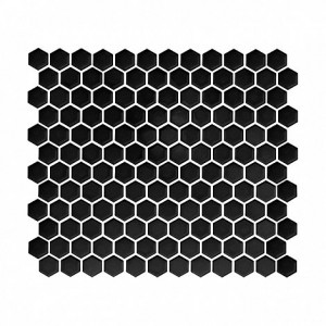 MINI HEXAGON BLACK PŁYTKA GRESOWA DUNIN